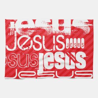 イエス・キリスト; 深紅の赤のストライプ キッチンタオル