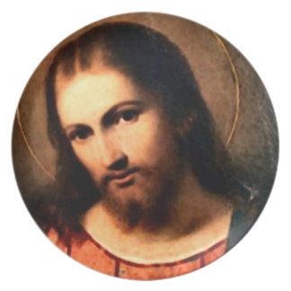 イエス・キリスト-神聖なハート プレート