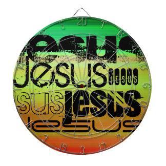 イエス・キリスト; 鮮やかな緑、オレンジ、及び黄色 ダーツボード