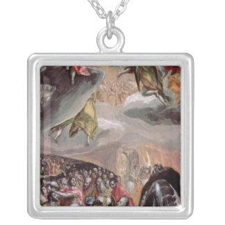 イエス・キリスト、c.1578の名前の崇敬 シルバープレートネックレス