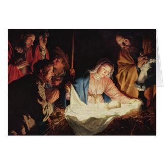 イエス・キリスト- Gerard van Honthorstの出生 カード