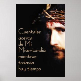 イエス・キリストDivina Misericordiaのスペインのなスペインポスター ポスター