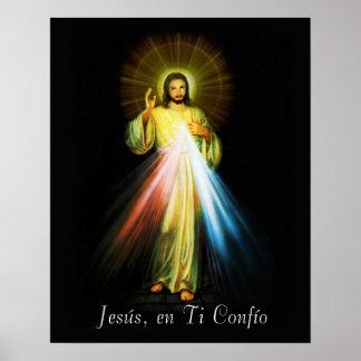 イエス・キリストDivina Misericordiaポスタースペイン語-スペイン ポスター
