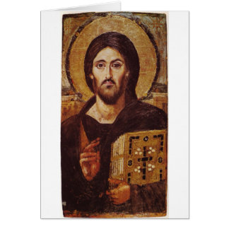 イエス・キリストPantocratorクリスチャンアイコン カード