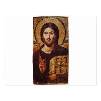 イエス・キリストPantocratorクリスチャンアイコン ポストカード