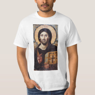 イエス・キリストPantocratorクリスチャンアイコン Tシャツ