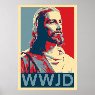 イエス・キリストWWJD ポスター