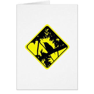 イエミソサザイの警告標識愛野鳥観察 カード