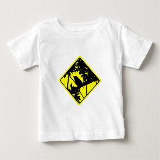 イエミソサザイの警告標識愛野鳥観察 ベビーTシャツ