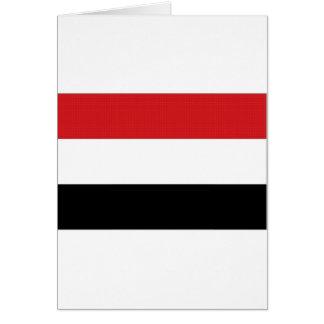 イエメンの国旗 カード