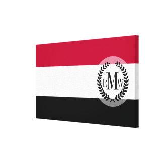 イエメンの旗 キャンバスプリント