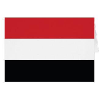 イエメンの明白な旗 カード
