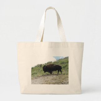 イエローストーンのバッファローの写真-それの自然はBesです ラージトートバッグ