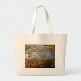 イエローストーンのパステル火山鉱物 ラージトートバッグ