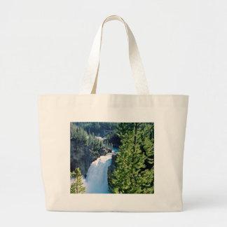 イエローストーンの上部の滝 ラージトートバッグ