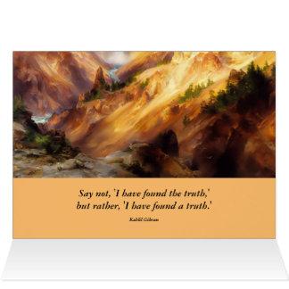 イエローストーンの感動的な景色 カード