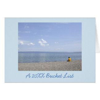 イエローストーンの景色の写真の新年のバケツのリストカード カード