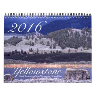 イエローストーンの景色の自然の景色米国2016年 カレンダー