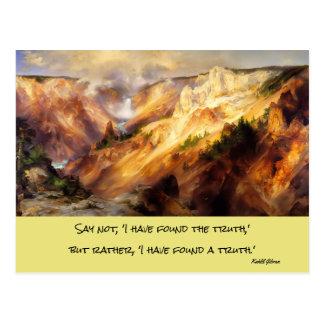 イエローストーンの景色 ポストカード