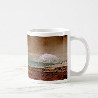 イエローストーンの沸騰水の火山プール コーヒーマグカップ