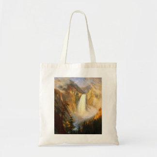 イエローストーンの滝のトートバック トートバッグ