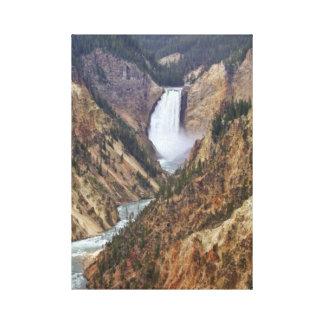 イエローストーンの滝 キャンバスプリント