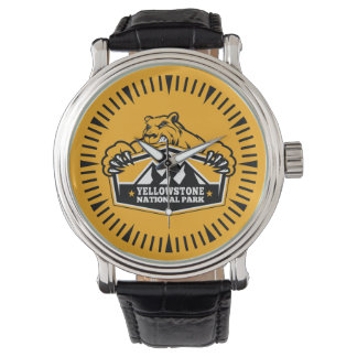 イエローストーンの金ゴールドくまの腕時計 腕時計