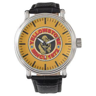 イエローストーンの金ゴールドの円の腕時計 腕時計
