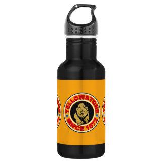 イエローストーンの金ゴールドの円 ウォーターボトル
