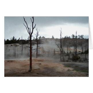 イエローストーンの霧の熱プールの空白のな挨拶状 カード