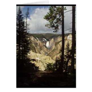 イエローストーンは滝を下げます カード