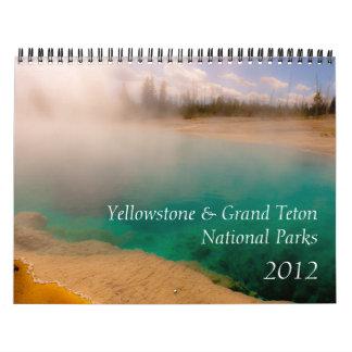 イエローストーン及びTetonの壮大な国立公園2012年 カレンダー