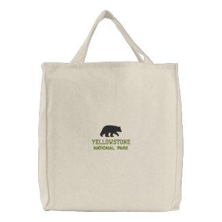 イエローストーン国立公園くま 刺繍入りトートバッグ
