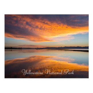 イエローストーン国立公園のモンタナの郵便はがき ポストカード
