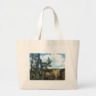 イエローストーン国立公園の写真撮影 ラージトートバッグ