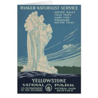 イエローストーン国立公園の古い忠実 カード