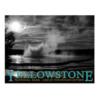イエローストーン国立公園の素晴らしい噴水の間欠泉 ポストカード