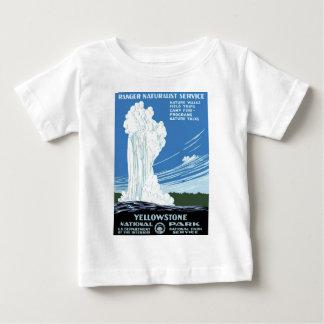 イエローストーン国立公園ポスター ベビーTシャツ