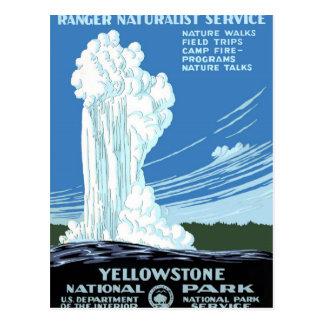 イエローストーン国立公園ポスター ポストカード