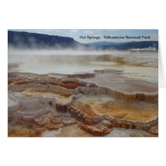 イエローストーン国立公園米国のHot Springs カード