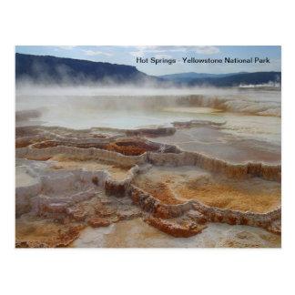 イエローストーン国立公園米国のHot Springs ポストカード