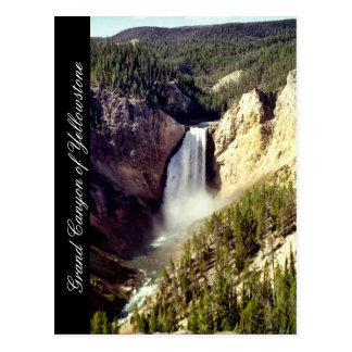 イエローストーン国立公園、ワイオミングのグランドキャニオン ポストカード