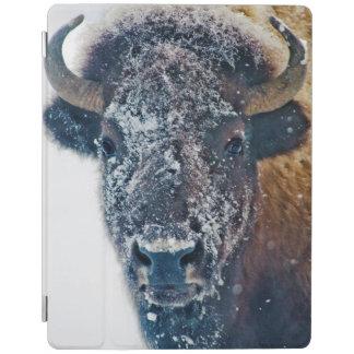イエローストーンNPの雪のアメリカ野牛 iPadスマートカバー