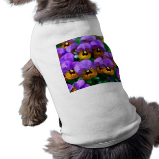 イエロー・ゴールドで整う小さい紫色のパンジー ペット服