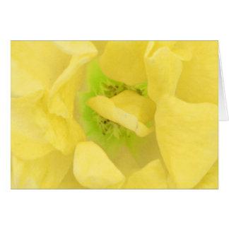 イエロー・ゴールドの花柄の果汁 カード