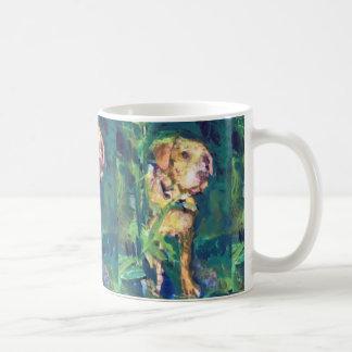 イエロー・ラブラドール・レトリーバーの入り江の絵画のマグ コーヒーマグカップ