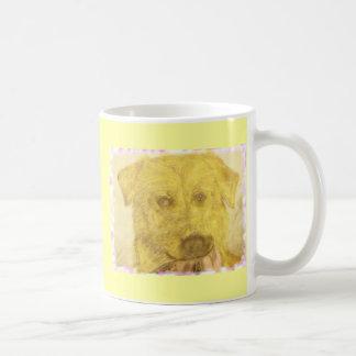 イエロー・ラブラドール・レトリーバーの芸術 コーヒーマグカップ