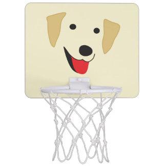 イエロー・ラブラドール・レトリーバーの顔 ミニバスケットボールゴール