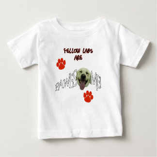 イエロー・ラブラドール・レトリーバーは素晴らしいPawesomeです ベビーTシャツ