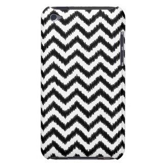 イカットのシェブロン黒いパターンジグザグ形 Case-Mate iPod TOUCH ケース
